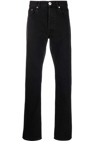 Lanvin Homem Slim - Logo-patch slim-fit jeans