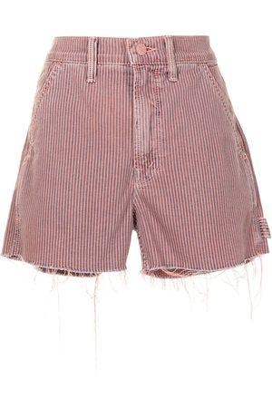 Mother Frayed-hem corduroy shorts