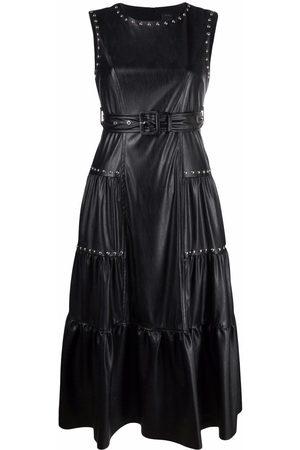 Pinko Senhora Vestidos Casual - Stud-embellished tiered midi dress