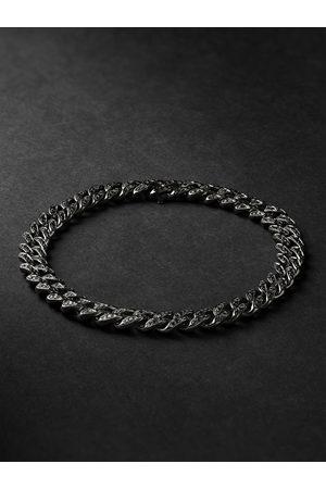 Shay Homem Pulseiras - Blackened Gold Diamond Bracelet