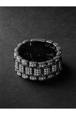 SHAY Homem Anéis - Blackened Gold Diamond Ring