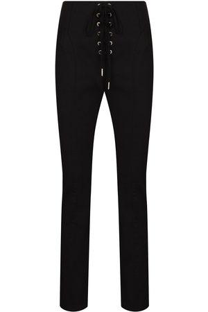 DION LEE Senhora Calças Justas - Lace-up slim leg trousers