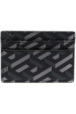 VERSACE Homem Bolsas & Carteiras - La Greca leather cardholder