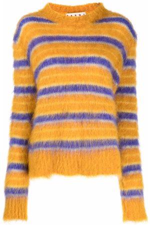 Marni Senhora Camisolas - Round-neck striped jumper