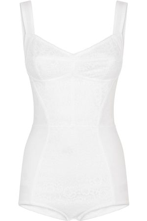 Dolce & Gabbana Senhora Corpetes - Lace insert corset bodysuit