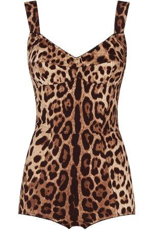 Dolce & Gabbana Leopard-print fitted bodysuit