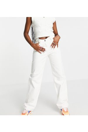 COLLUSION Senhora Boyfriend - X014 90s baggy dad jeans in white