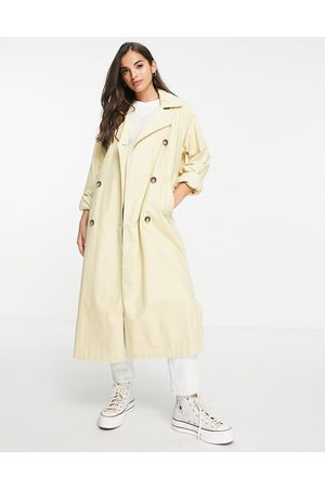 Monki Senhora Gabardinas - Hedda trench coat in beige-Neutral
