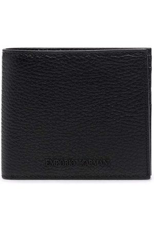 Emporio Armani Grained embossed-logo wallet