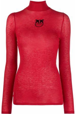 Pinko Logo-print rollneck jumper