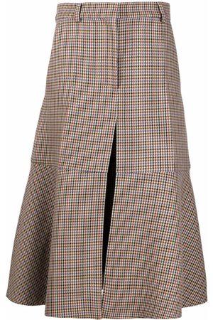 Stella McCartney Houndstooth A-line midi-skirt