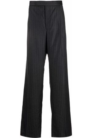 Thom Browne Pinstripe wide-leg tailored trousers