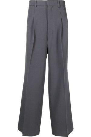 Ami Homem Calças à Boca-de-sino - Front-pleat wide-leg trousers