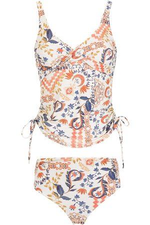 Lygia & Nanny Senhora Bikinis - Wrap-detail printed two-piece tankini