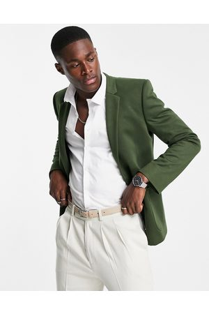 ASOS Homem Blazers - Super skinny jersey blazer in khaki green