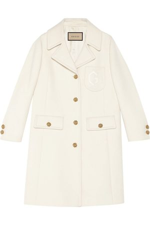 Gucci Double G embroidered button-front coat