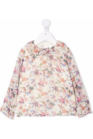 BONPOINT Floral-print ruffled-collar blouse