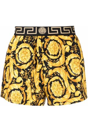 VERSACE Baroque-pattern elasticated-waistband boxers