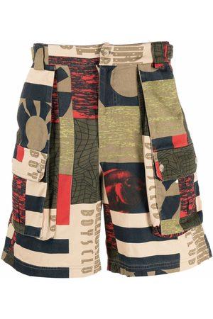 Billionaire Boys Club Patchwork print cargo shorts