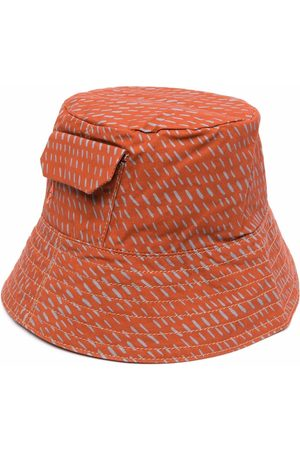 ALLY CAPELLINO Chapéus - Embroidered-logo pocket bucket hat