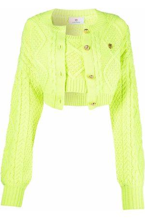Chiara Ferragni Cable-knit cropped cardigan