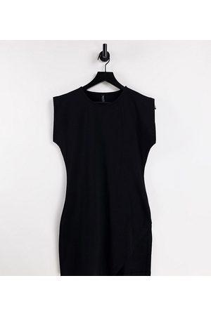 AsYou Senhora Vestidos Casual - Sleeveless dress with split in black