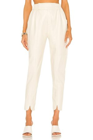 Nicholas Khloe Vegan Leather Pant in - Ivory. Size 0 (also in 2, 4, 6, 8).
