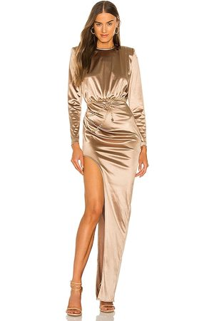Bronx and Banco Farrah Maxi Dress in - Metallic . Size L (also in M, S, XL, XS).