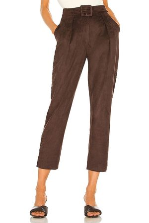 JONATHAN SIMKHAI Gabriella Suede Cropped Pant in - . Size 0 (also in 2, 4, 6, 8).