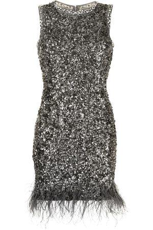 Rachel Gilbert Senhora Vestidos de Festa - Sequin-embellished feather mini dress