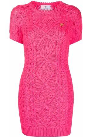 Chiara Ferragni Senhora Camisolas - Chunky knit jumper dress