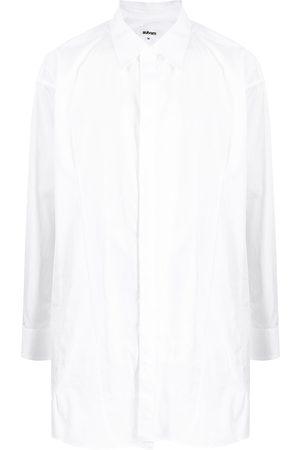 Sulvam Homem Casual - Curved hem oversized shirt