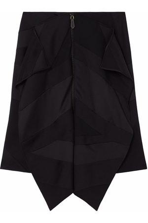 Burberry Flag drape-detail skirt