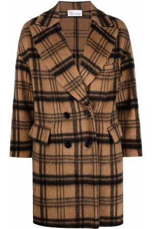 RED Valentino Checked wool-blend coat
