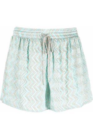 Missoni Mare Zigzag-pattern metallic shorts