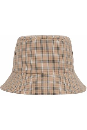 Burberry Technical check bucket hat