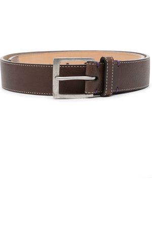 Paul Smith Homem Cintos - Contrast-stitching leather belt
