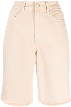 12 STOREEZ Raw edge denim shorts