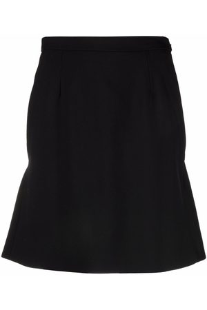 Alexander McQueen High-waisted ruffle-hem mini skirt