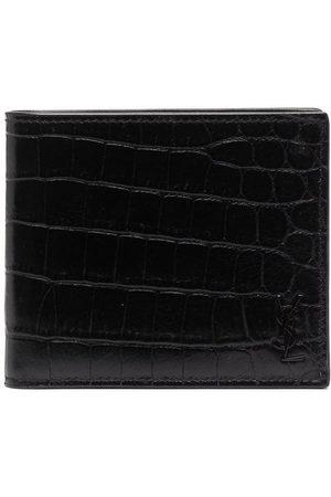 Saint Laurent Homem Bolsas & Carteiras - Croco-effect wallet