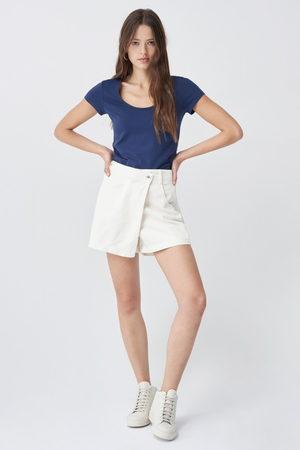 Salsa Senhora T-shirts & Manga Curta - T-shirt timeless em algodão orgânico decote redondo