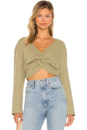 Lovers + Friends Isabel Top in - Olive. Size L (also in M, S, XL, XS, XXS).