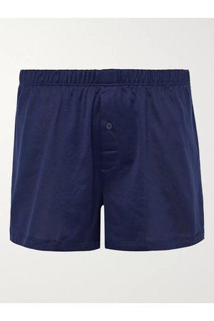 Hanro Homem Boxers - Sporty Mercerised Cotton Boxer Shorts