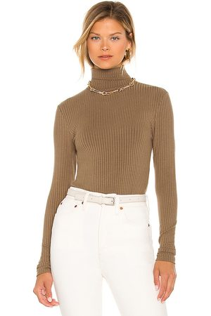 n:philanthropy Brooke Turtleneck Bodysuit in - Taupe. Size L (also in M, S, XS).