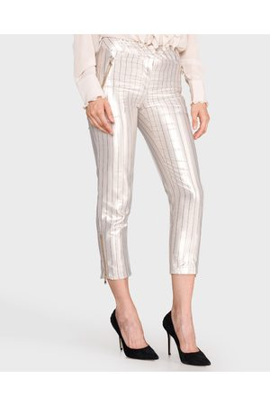 Twin-Set Trousers Gold Silver