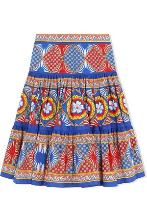 Dolce & Gabbana Kids Menina Saias Estampadas - A-line graphic print midi skirt