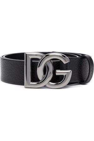 Dolce & Gabbana Homem Cintos - Logo-lettering leather belt