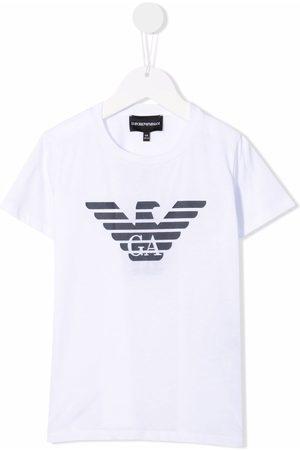 Emporio Armani Menino T-shirts & Manga Curta - Logo-print T-shirt