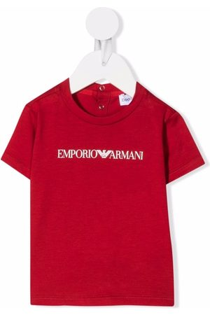 Emporio Armani Kids Bebé T-shirts & Manga Curta - Logo-print T-shirt