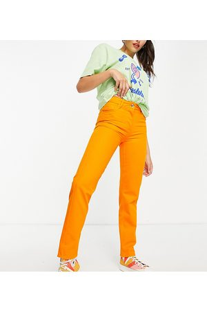 COLLUSION Senhora Slim - New mid rise fit slim jeans in orange